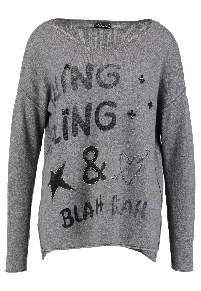 Grace BLING BLING Sweter darkgrey - 412/1122
