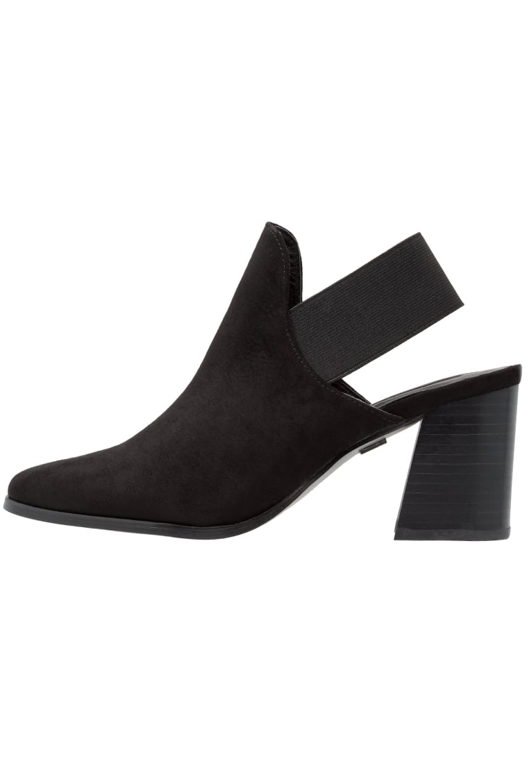 Lost Ink Ankle boot black - ELASTICATED OPEN BACK BOOT