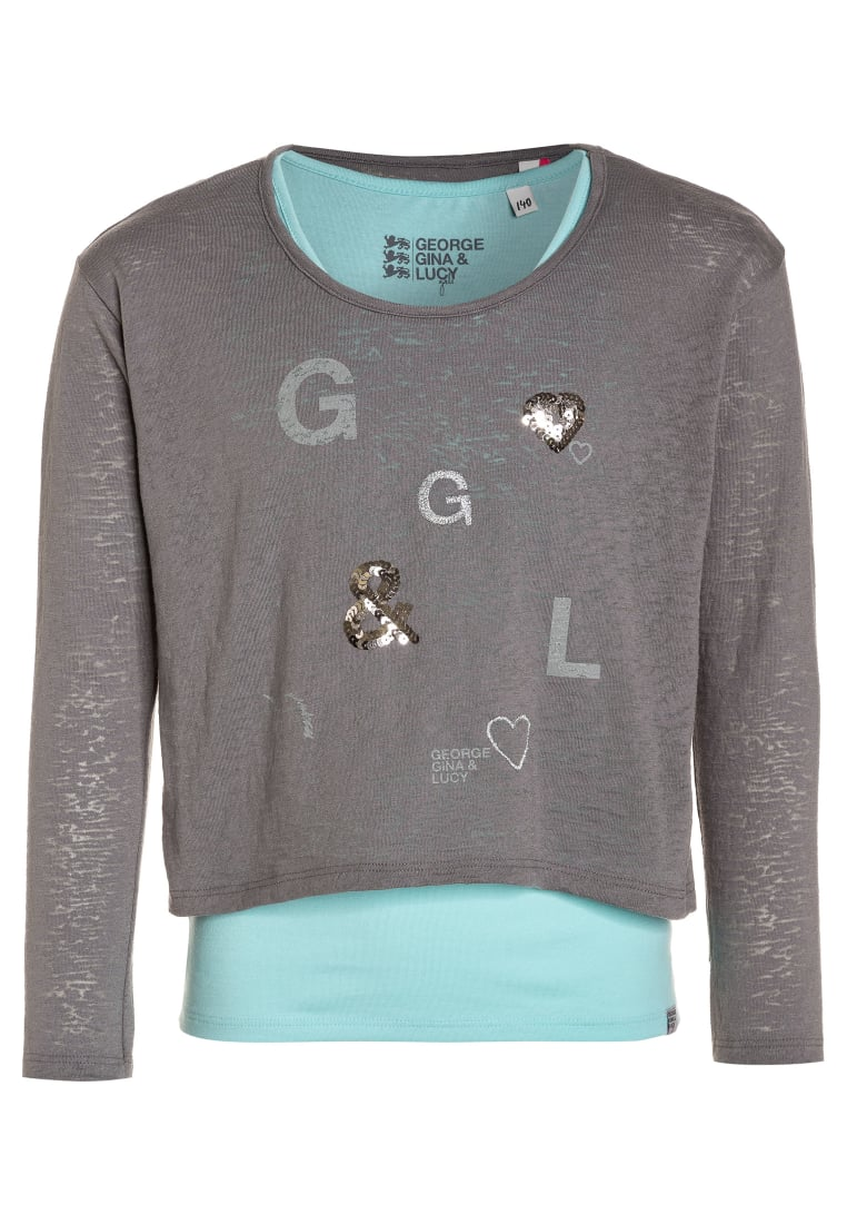 GEORGE GINA & LUCY girls BERLIN 2IN1 Top steel grey - 50197