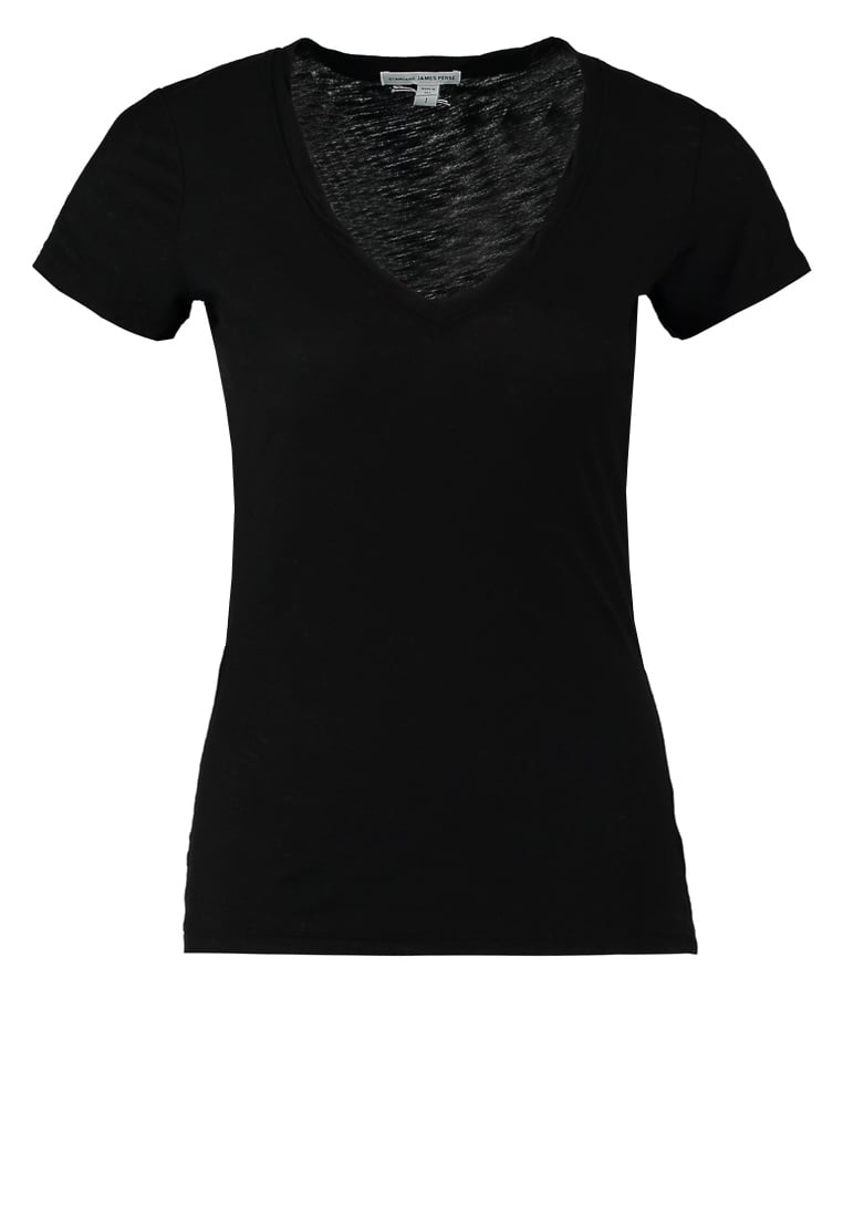 James Perse Tshirt basic black - WUA3695