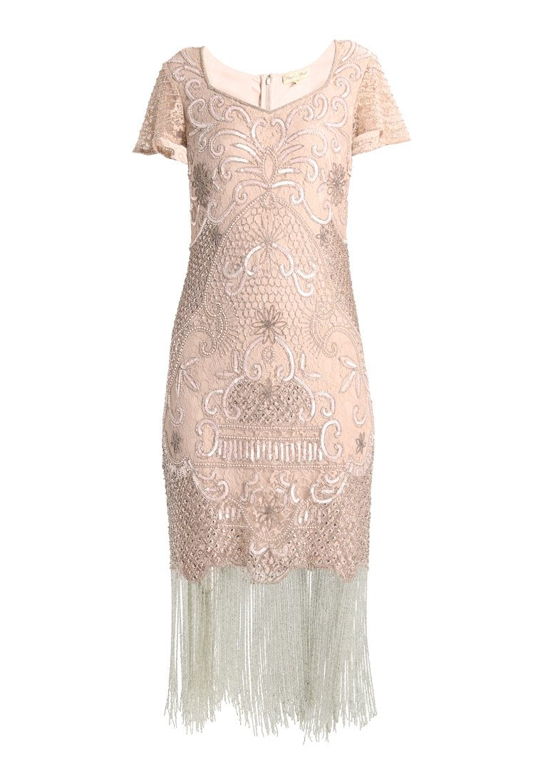 0bffd8b6 Frock and Frill BLAIR AND SEQUIN FLAPPER DRESS Sukienka koktajlowa soft  pink - FFCG09UI