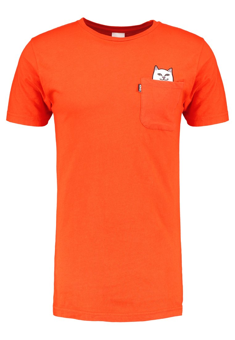 RIPNDIP LORD NERMAL POCKET Tshirt z nadrukiem safety orange - RND2065