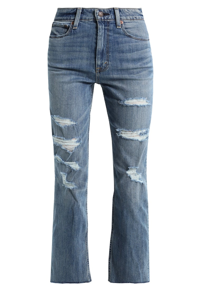 Abercrombie & Fitch ANKLE Jeansy Straight leg medium - KI155-7254