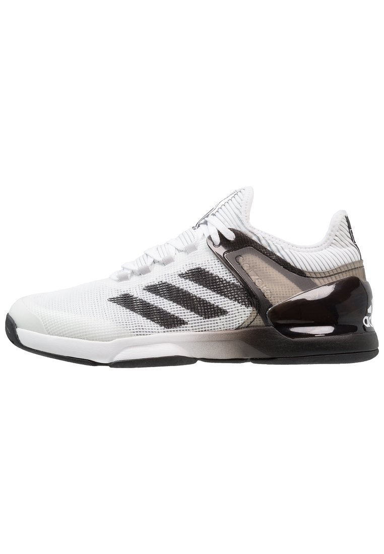 adidas Performance ADIZERO UBERSONIC 2 Buty do tenisa Outdoor footwear white/core black/grey two - DWI31