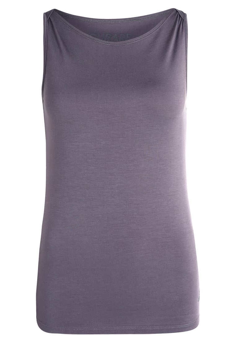 Curare Yogawear BOAT NECK Top new stone - #255