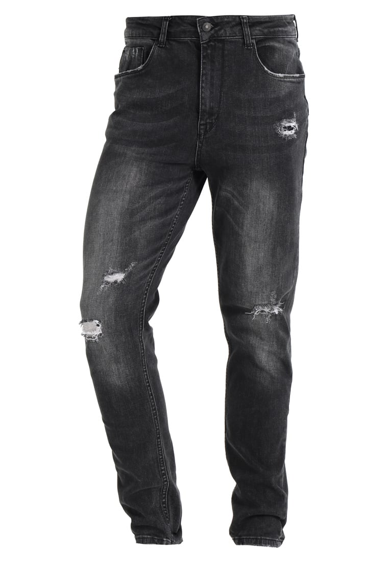 Antioch ANTIOCH WASHED BLACK STRETCH Jeansy Slim Fit washed black - ANMDN0107BLK