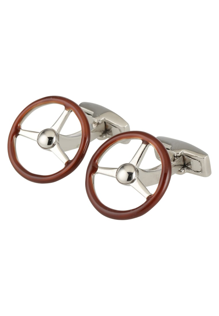 Hackett London STEERING WHEEL Spinka do mankietów brown - HM100667