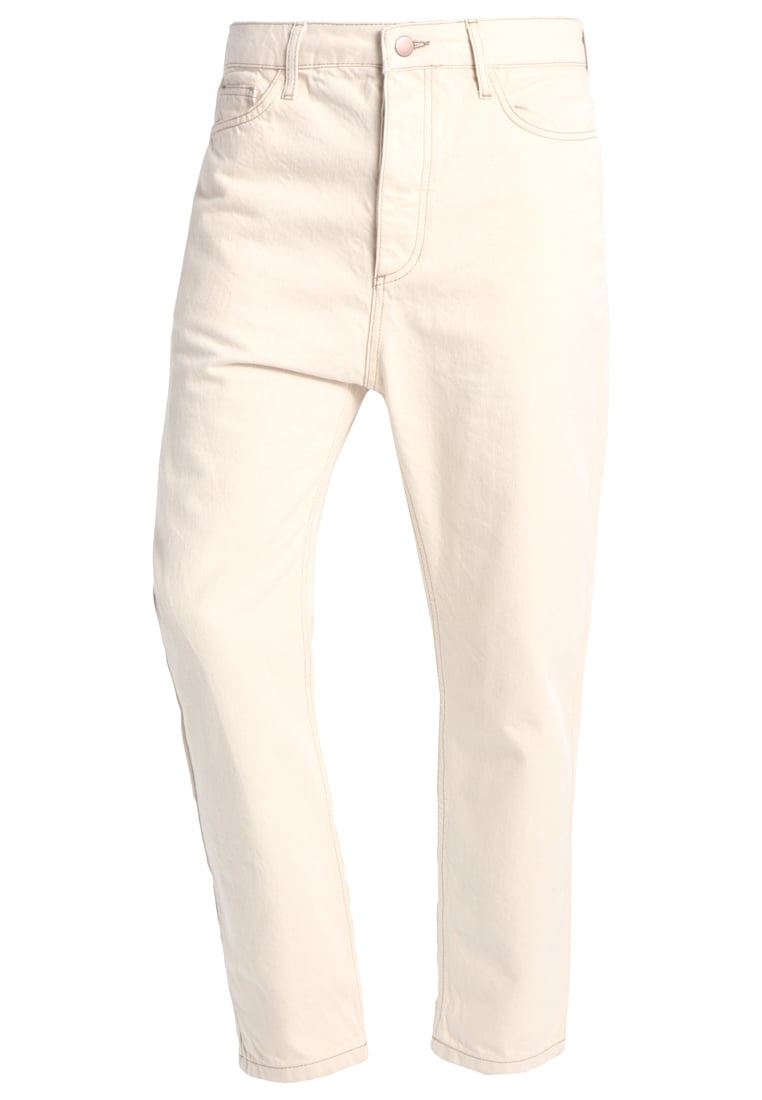 Topman Design Jeansy Straight leg cream - 79T26MECR