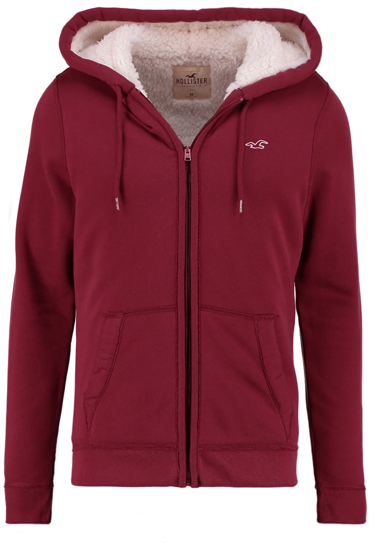 Hollister Co. Bluza rozpinana burgundy - KI322-6421