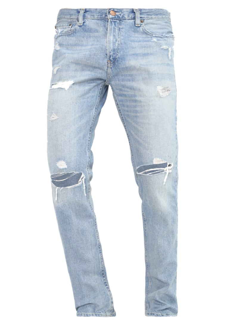 Hollister Co. Jeansy Slim fit destroyed denim - KI331-6035