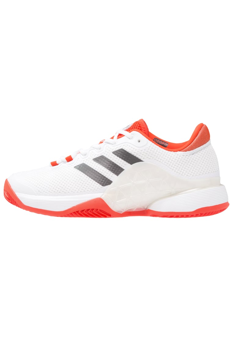 adidas Performance BARRICADE 2017 CLAY Buty do tenisa Outdoor white/dough solid grey/energy - KDC13