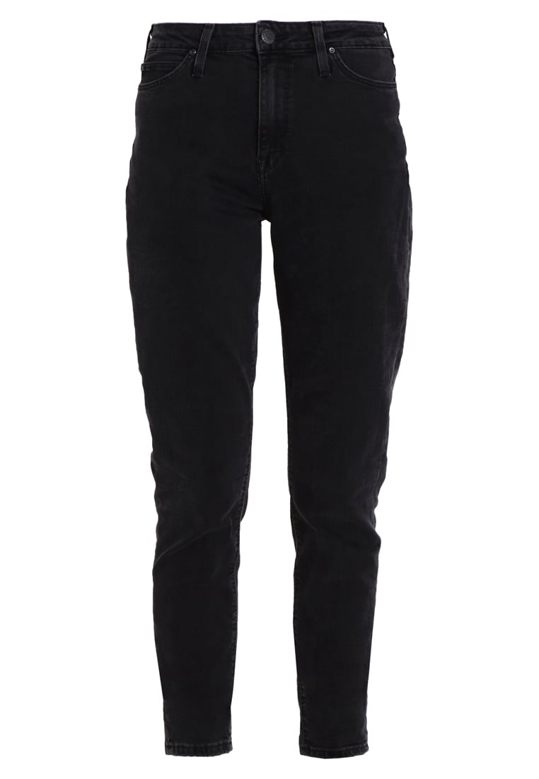 Lee MOM TAPERED Jeansy Slim fit flat black stone
