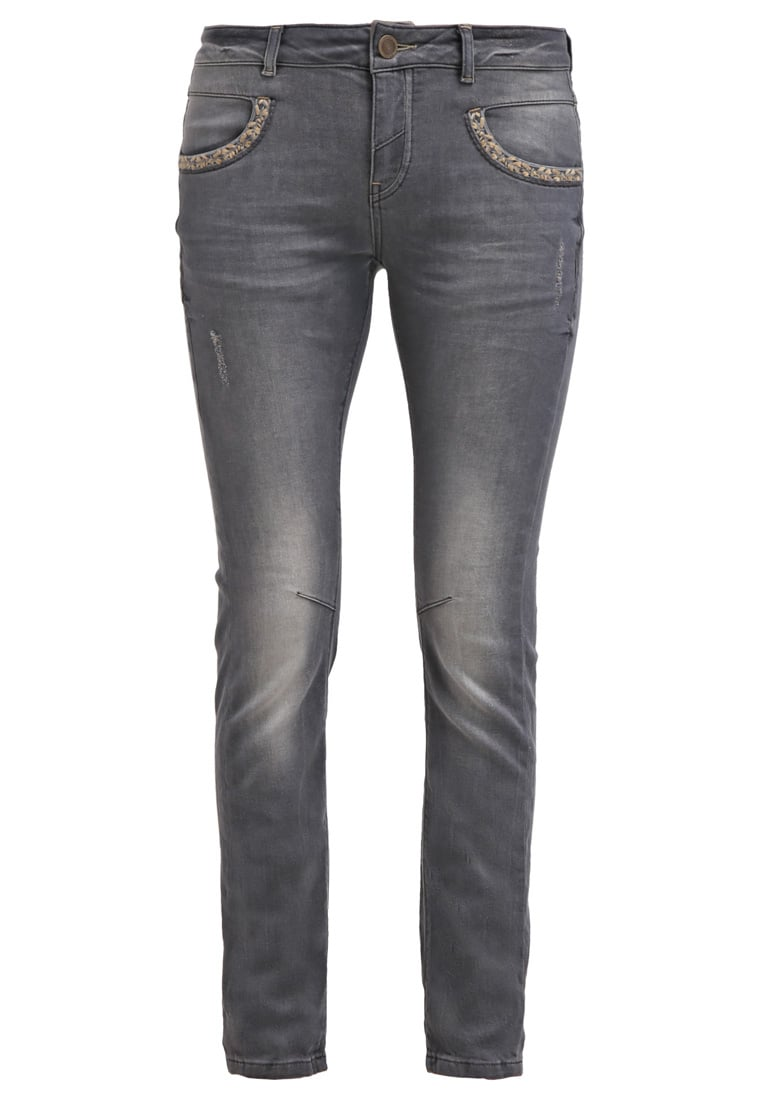 Mos Mosh BABA Jeansy Slim fit grey denim - 115970