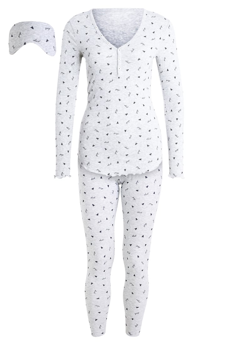 GAP SLEEP SET Piżama xmas tree grey