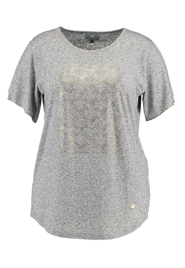 Raiski SHIBYA Tshirt z nadrukiem light grey - 092-1856