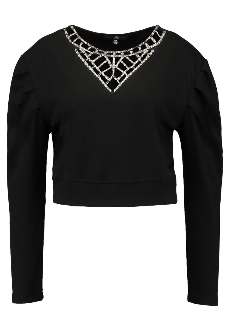 Missguided JEWELLED CUT OUT  Bluza black