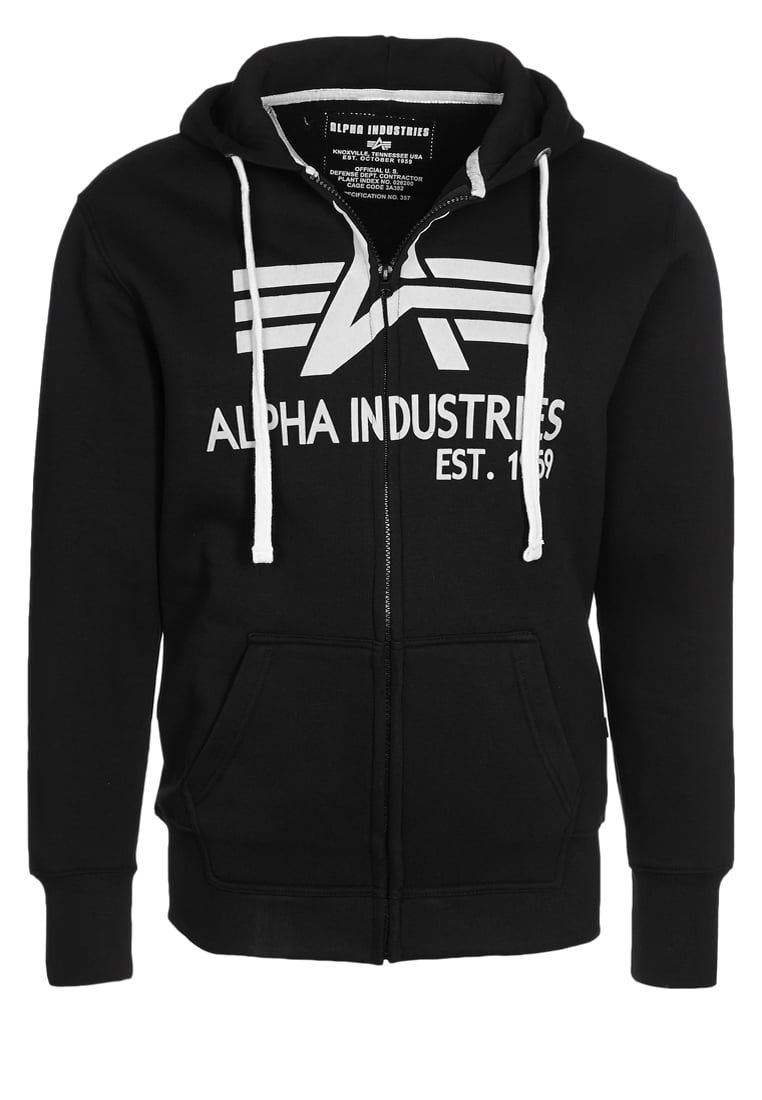 Alpha Industries BIG A Bluza rozpinana black - 103307