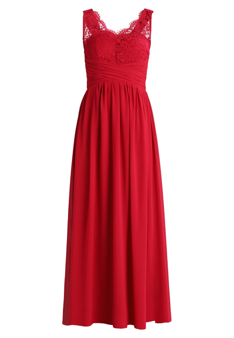 Dorothy Perkins Petite BERRY JOSIE LACE DETAIL PROM Suknia balowa berry - 12564488