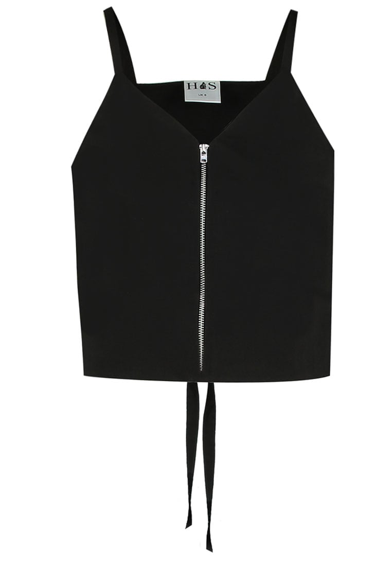 House of Sunny KENDAL Bluzka jet black - Zipper Kendal