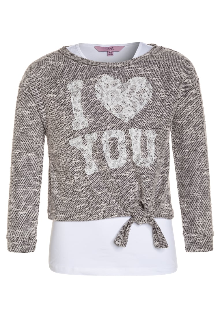 OVS 2IN1 Top grey/white - 1506987