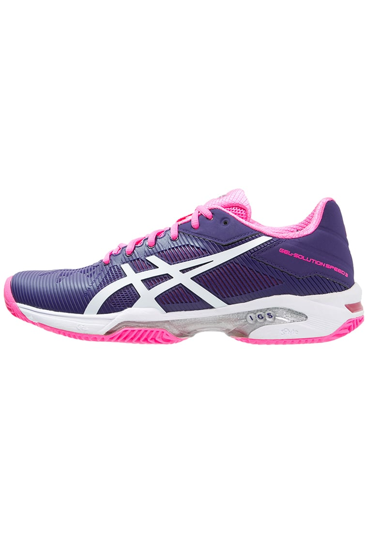 ASICS GELSOLUTION SPEED 3 CLAY Buty do tenisa Outdoor parachute purple/white/hot pink - E651N