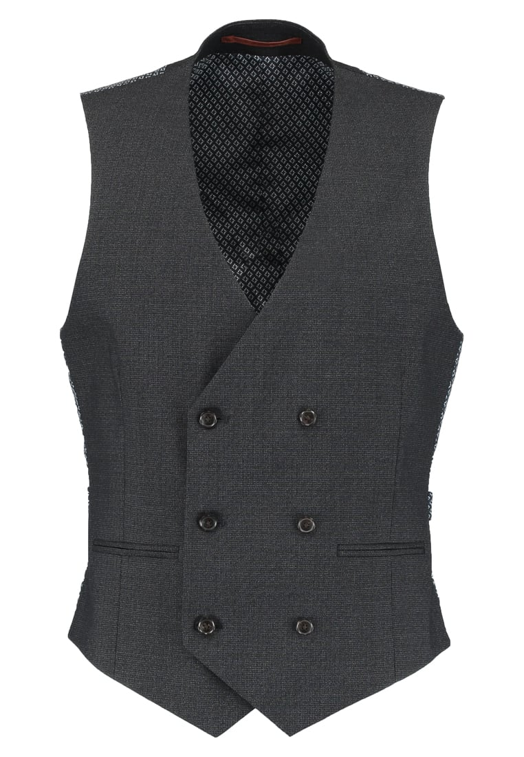 Burton Menswear London Kamizelka garniturowa grey - 02S03LGRY