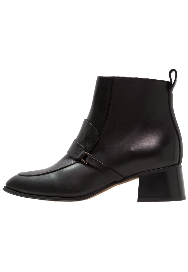 Whistles Ankle boot black - SADDLE LOAFER BOOT