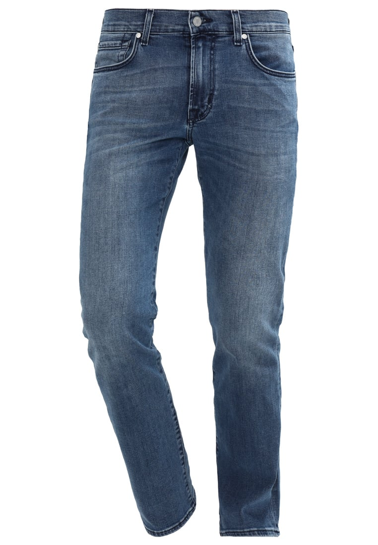 7 for all mankind SLIMMY Jeansy Straight leg mid blue - SMSR460CK