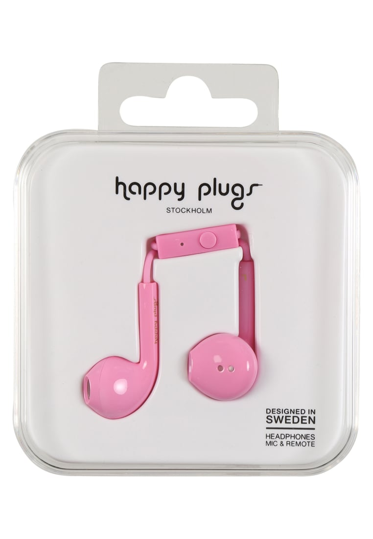 Happy Plugs PLUS DELUXE Słuchawki pink - Happy Plugs Earbud Plus Deluxe