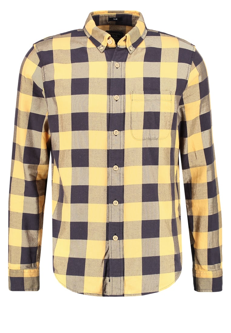 Abercrombie & Fitch SLIM FIT Koszula yellow - KI125-6501