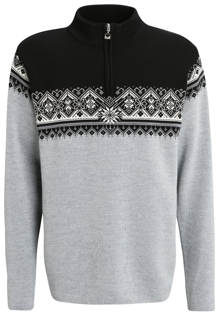 Dale of Norway ST. MORITZ Sweter metal grey/schiefer/black/off white - 91391