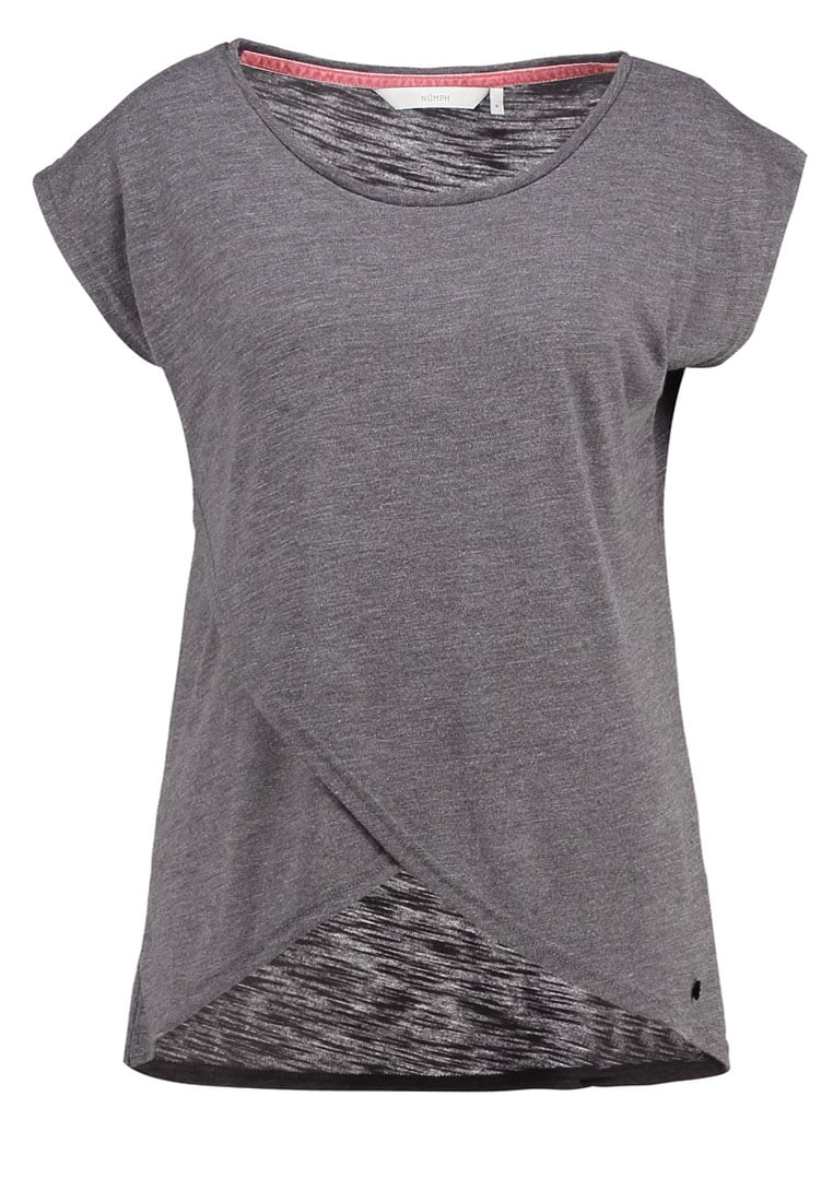 Nümph ARNLIN Tshirt basic dark gull grey - 7117-303