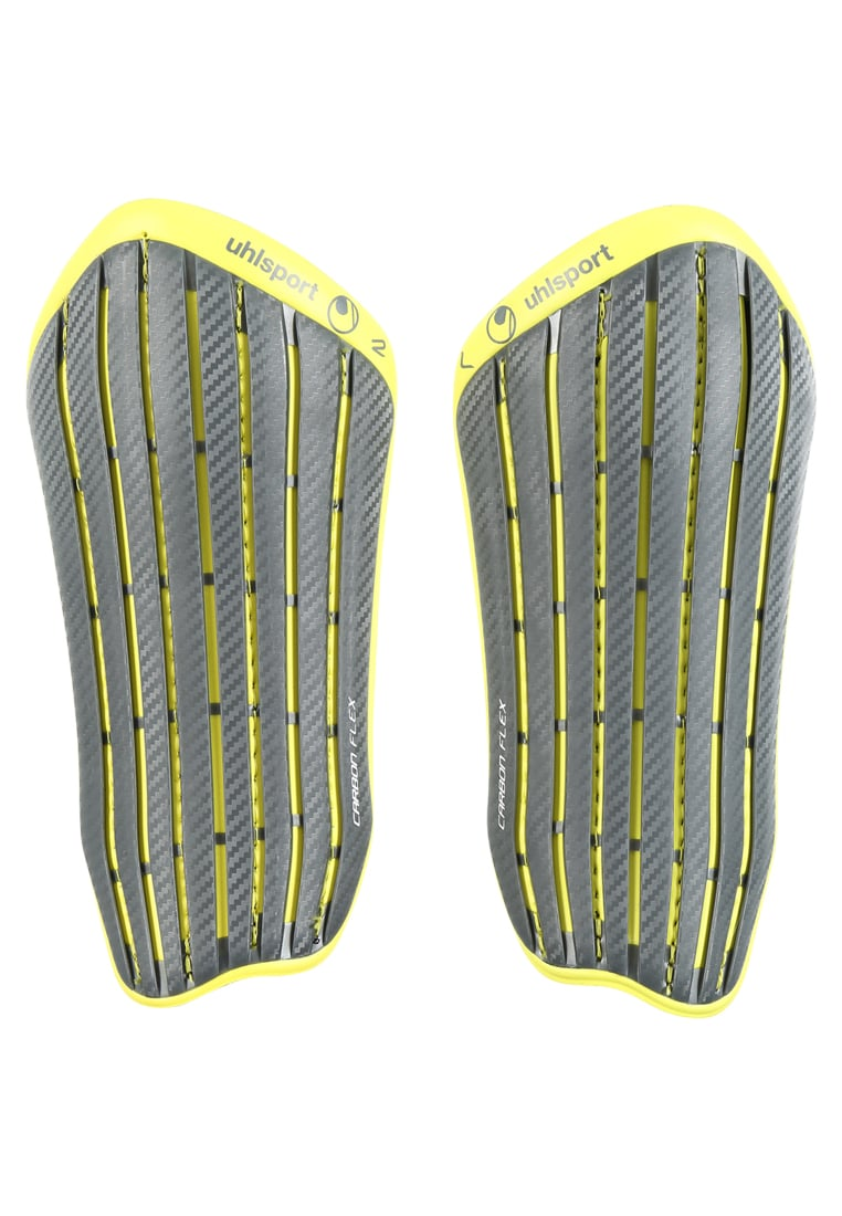 Uhlsport CARBON FLEX Nagolenniki griffin grey/lite fluo yellow - 1006770