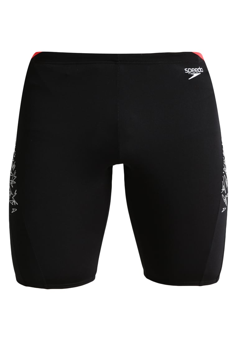 Speedo BOOM SPLASH Kąpielówki black/white/lava red - 68-10856B444