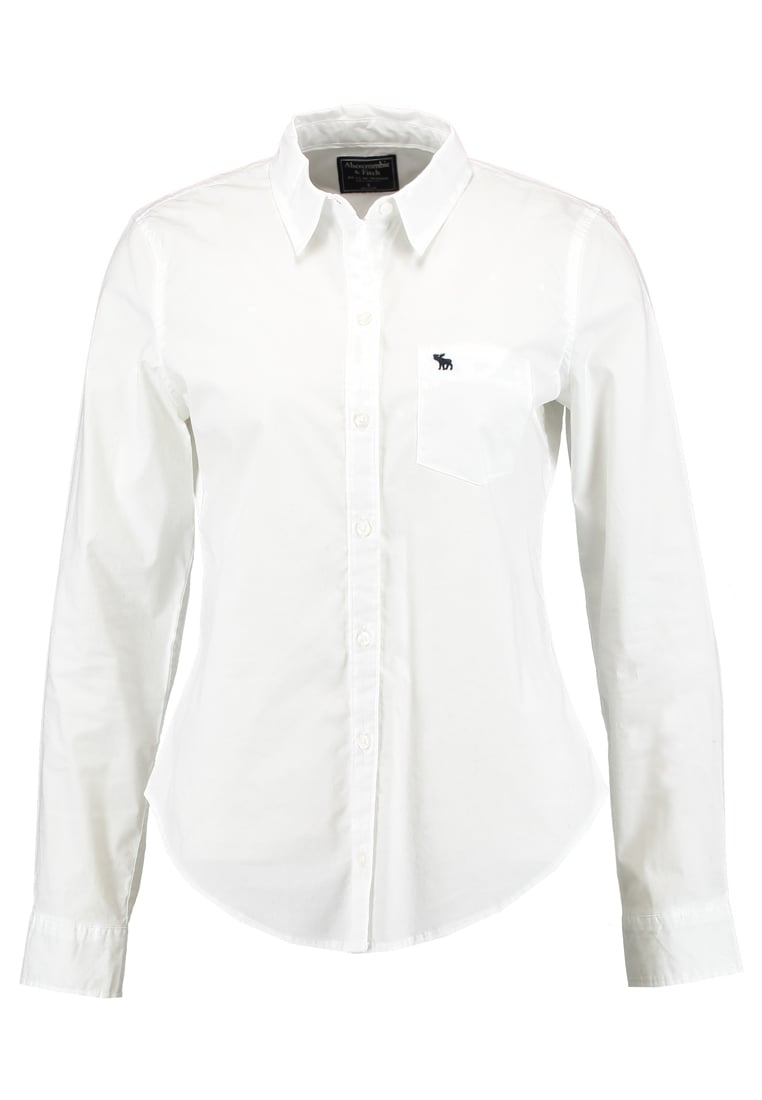 Abercrombie & Fitch SLIM FIT Koszula white - KI140-7301