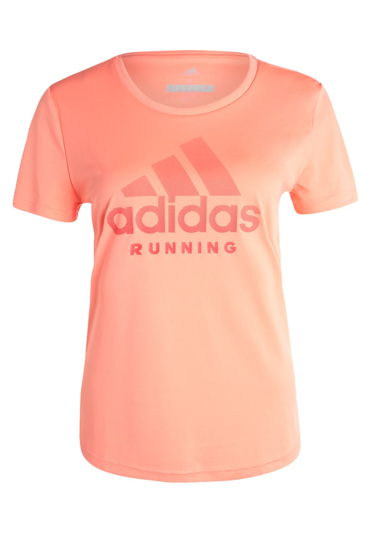 adidas Performance CATEGORY LOGO Tshirt z nadrukiem sunglow - DTO57