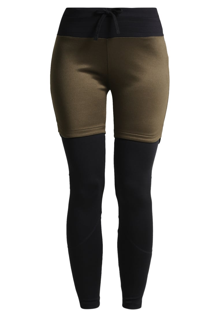 super.natural MOUNTAIN DOUBLE LAYER  Legginsy brown charcoal/jet black