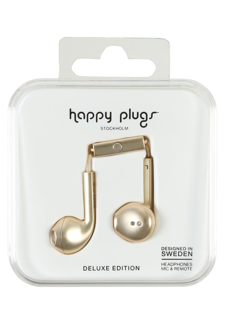 Happy Plugs PLUS DELUXE Słuchawki champagne - Happy Plugs Earbud Plus Deluxe
