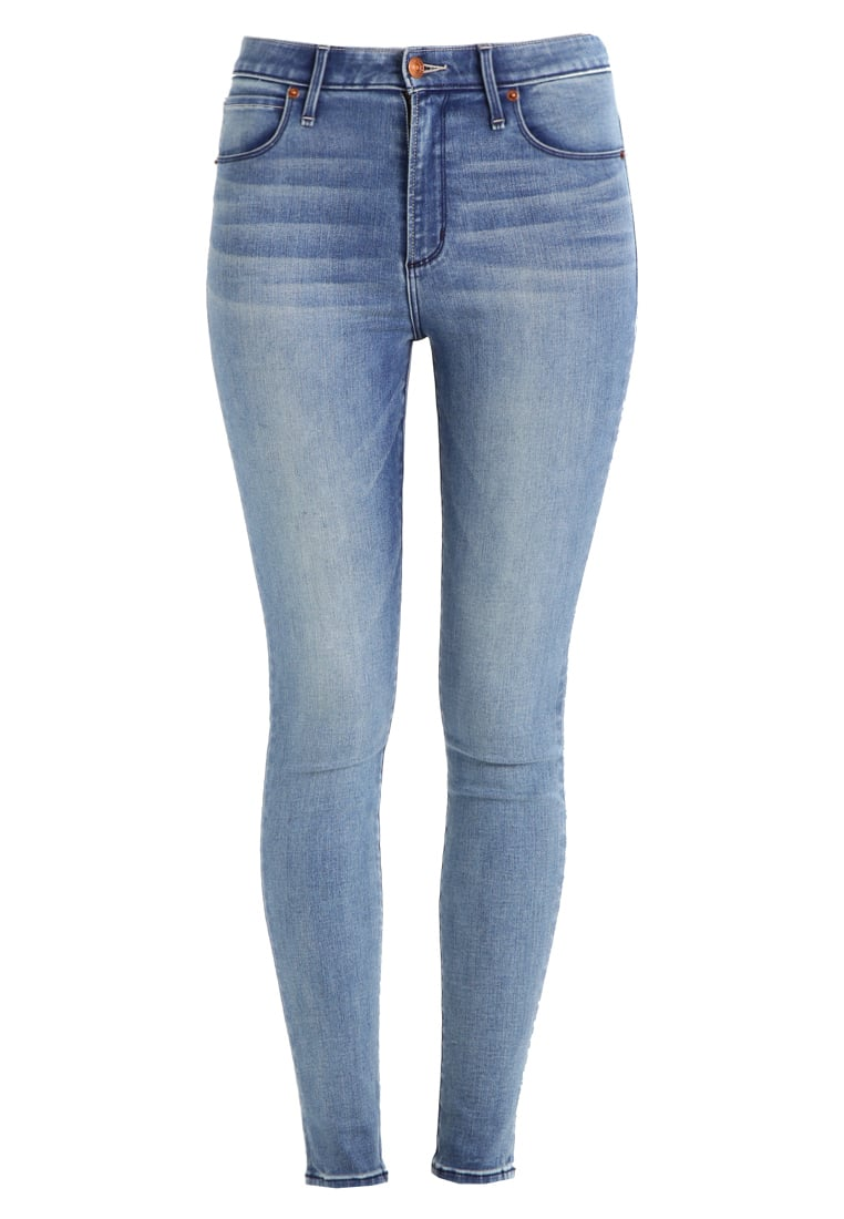 Abercrombie & Fitch HIGH RISE SUPER SKINNY Jeans Skinny Fit blue - KI155-7231