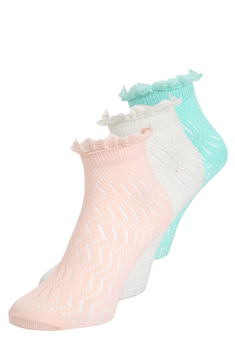 mint&berry 3 PACK Skarpety off white/pink/pistache - M32_SS17_8-1-F_005