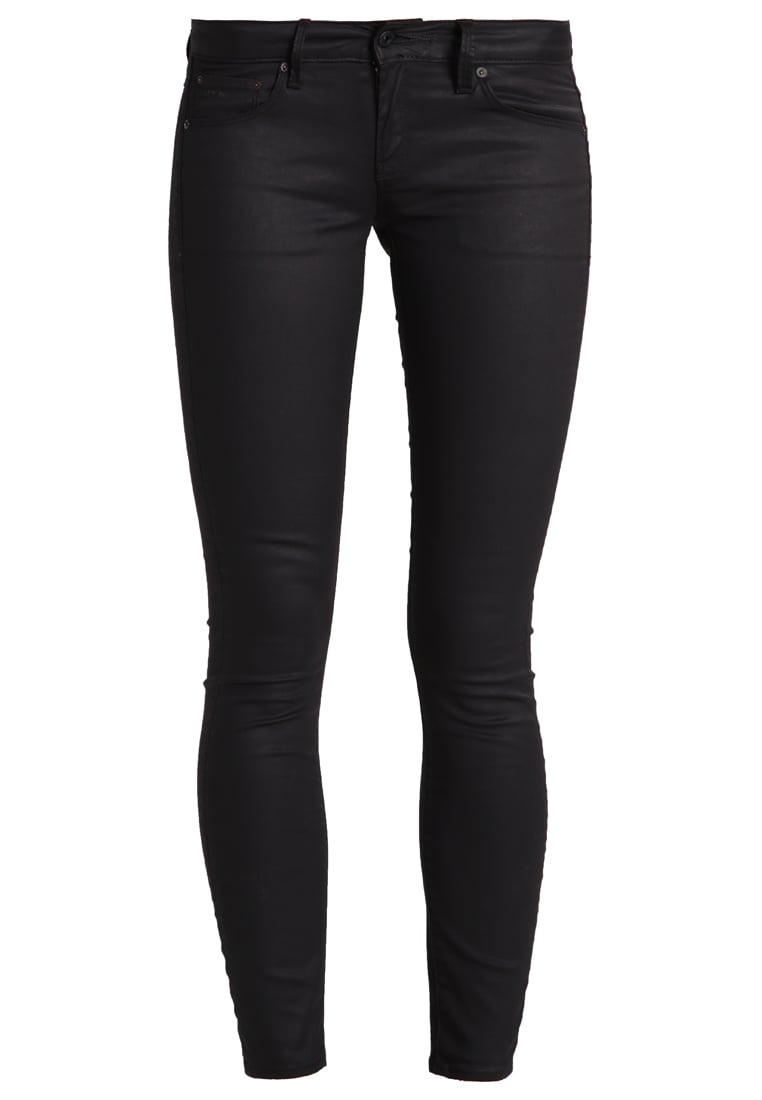GStar 3301 3D ANKLE ZIP LOW SKINNY Jeans Skinny Fit distro black superstretch - D03872