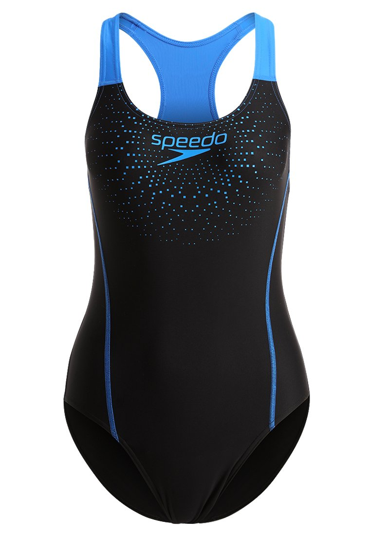 Speedo SPORTS LOGO Kostium kąpielowy black/neon blue - 68-096897669