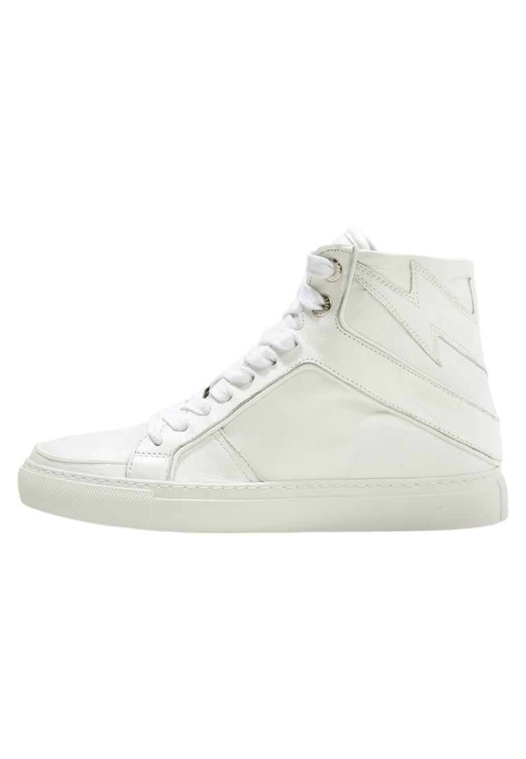 Zadig & Voltaire HIGH FLASH Tenisówki i Trampki wysokie blanc - ZV1747 HIGH FLASH