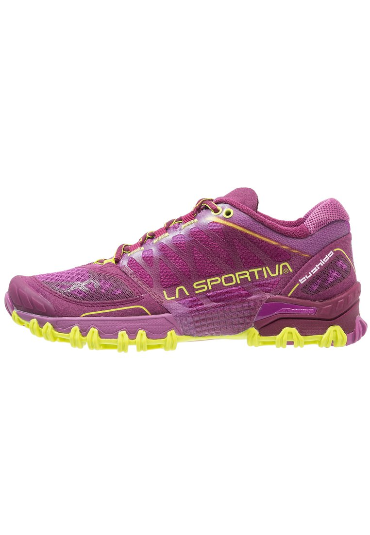 La Sportiva BUSHIDO WOMAN Buty do biegania Szlak plum/apple green - 26L