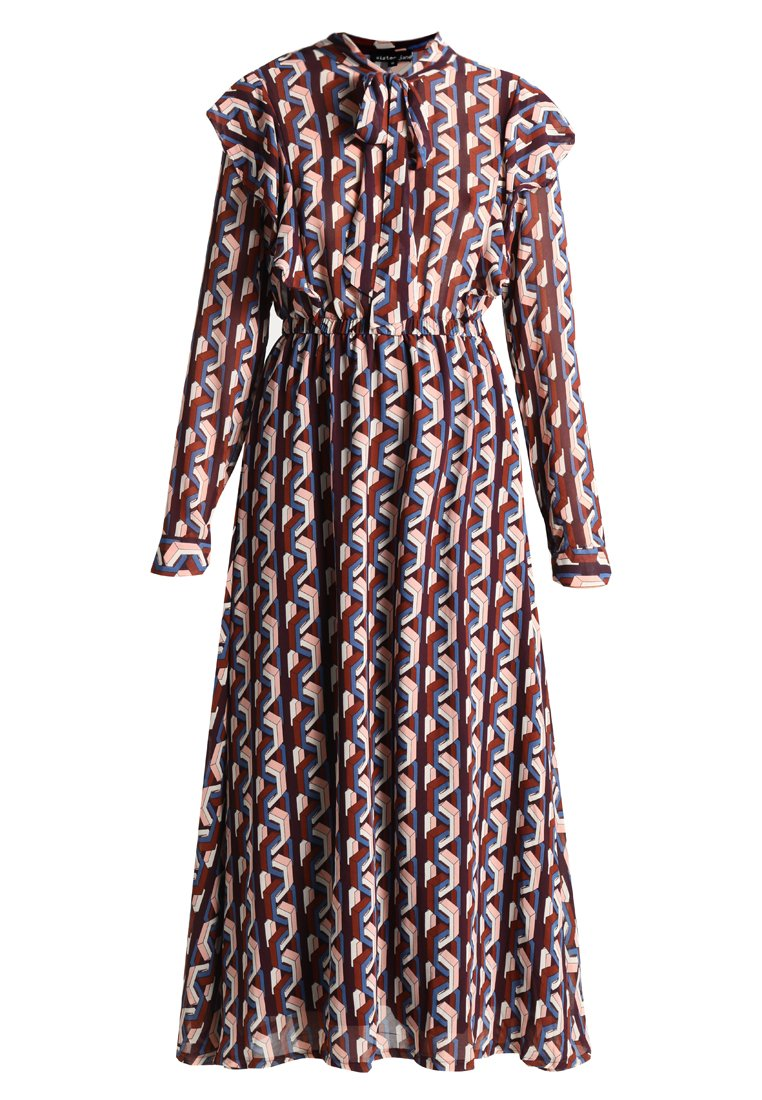 Sister Jane FIONA GEO MIDI DRESS Długa sukienka multicoloured - DR879MUL