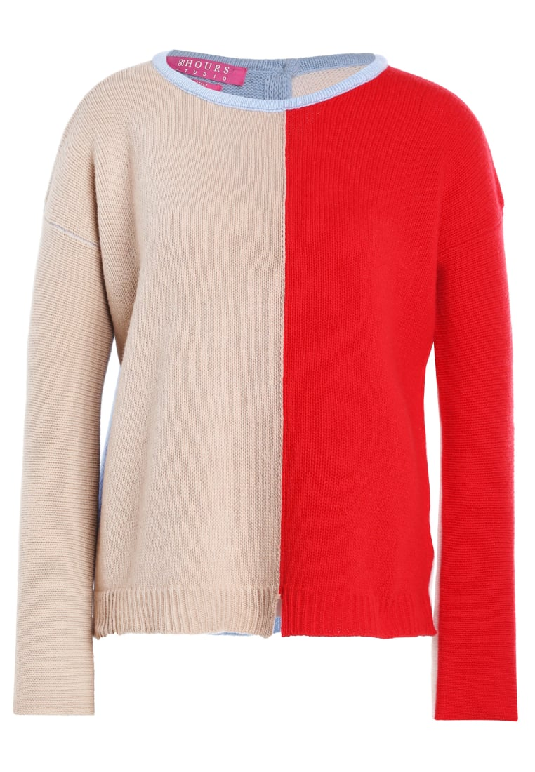 81hours Studio BACK TO FRONT Sweter cameld red - Z81019