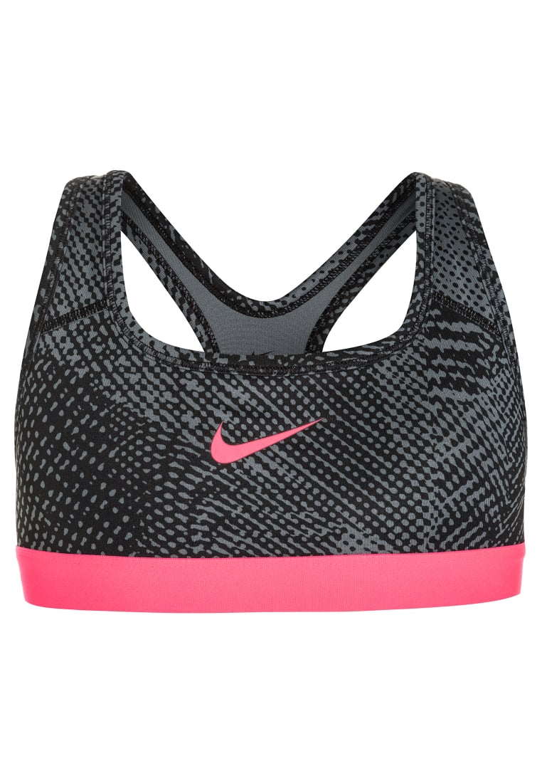 Nike Performance PRO CLASSIC ALLOVER Biustonosz sportowy cool grey/racer pink/tempest - 859939