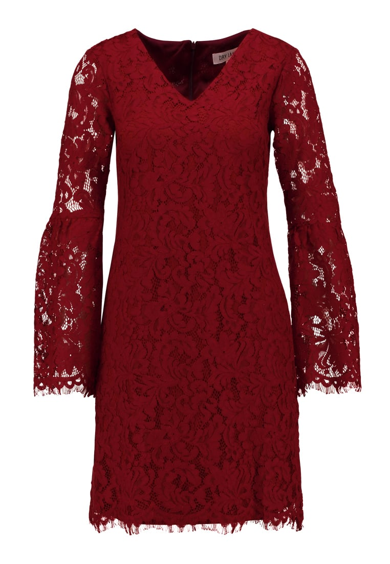 Dry Lake GLORY Sukienka letnia ruby wine lace - 1043391