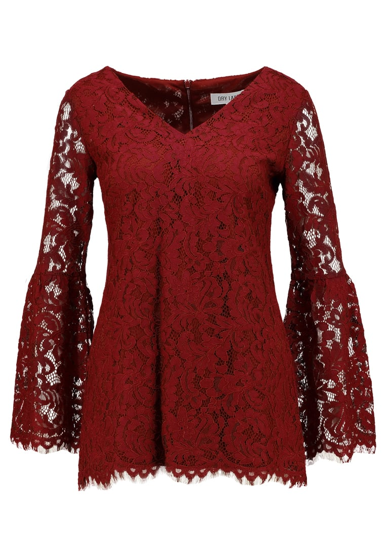 Dry Lake ENYA BLOUSE Bluzka ruby wine - 1043390