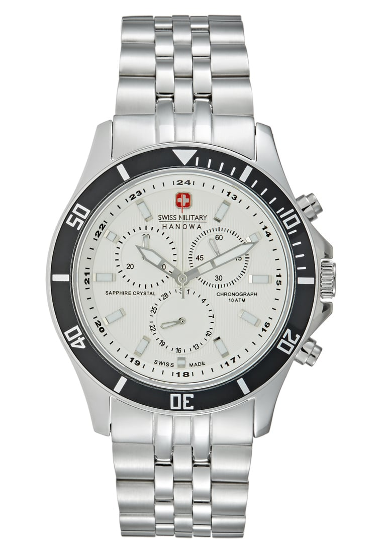 Swiss Military Hanowa FLAGSHIP Zegarek chronograficzny silvercoloured - 06-5183.7.04.001.07